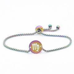 12 Constellation Symbol Stainless Steel Chain Bracelet Wholesale Virgo