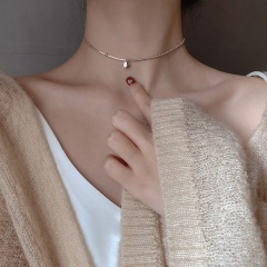Simple Gold Short Chain Necklace Wholesale rose gold