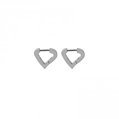 Fashion Silver Stainless Steel Simple Earring Wholesale silver