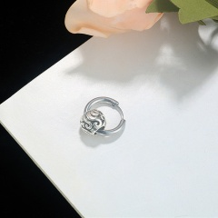1 Piece Silver Stainless Steel Earring Wholesale 1