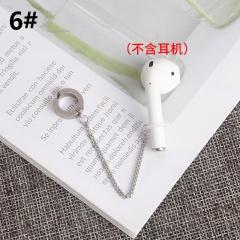 1 Piece Bluetooth Headset Anti-lost Chain Long Ear Hoop Earrings style 6