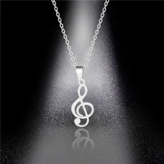silver butterfly stainless steel pendant chain necklace jewelry Musical