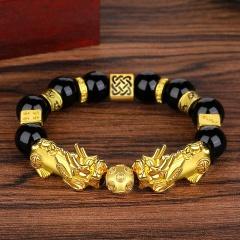 Shajin Pixiu Six-character Mantra Transfer Bead Bracelet (Bead diameter: 12mm) Jin Yu Man Tang