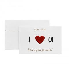 Bronzing Confession Love Greeting Card 3D Birthday Thank You Message Card 1