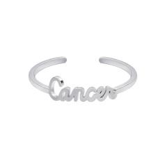 18KGP twelve constellation letters open copper ring Cancer