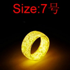 Acetate Crackle Luminous Ring  (Width: 0.8cm, thickness: 0.2cm) #7 yellow