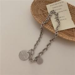 Vintage round English chain necklace (chain length 45cm) 18KGP