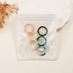 Mixed color resin acetate plate joint ring set (size #7) 10pcs/set