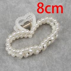 Geometric imitation pearl iron hair clip plate hair top clip heart