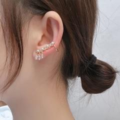 Fringe crystal stud earrings buckle ear bone clip gold earrings (size 2.5cm) opp 1pcs/set