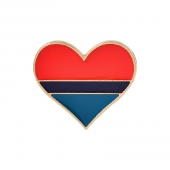 Color enamel heart brooch (size 0.7*0.8inch) A