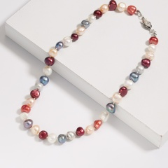 Candy Pearl Necklace Beige