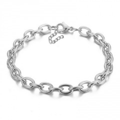 Simple and exaggerated thick chain short clavicle necklace (chain length 40+7cm) silver
