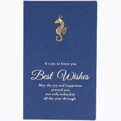Creative marine animal blessing holiday message card with envelope (card 17.2*10.5cm, envelope 18.8*10.8cm) Hippocampus