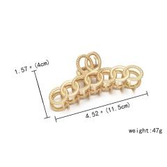 Geometric retro matte hair clip shark clip 1