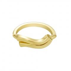 Symbol Edition Twelve Constellation Letter Gold Open Ring Aquarius