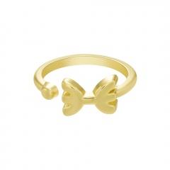 Symbol Edition Twelve Constellation Letter Gold Open Ring Pisces