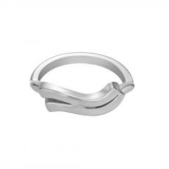 Symbol Edition Twelve Constellation Letter Silver Open Ring Aquarius