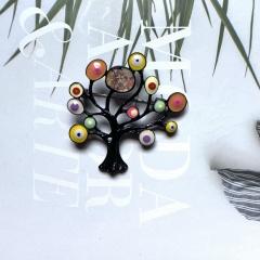 Color enamel eye tree brooch (size 5*5cm) A