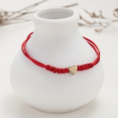 Red string of fate Love 6 knots red string lucky friendship woven adjustable paper card bracelet (Circumference: 16-28cm, paper jam: 9.5*7cm) red