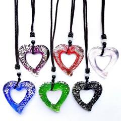 Wholesale Lot Murano Glass Necklace Snake Fan Creative Pendant Necklace Lot (Black Rope Length: 60cm) arrow(6pcs/Lot)